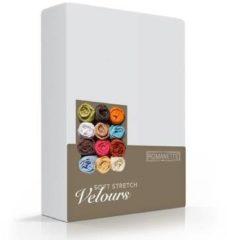 Romanette Badstof Velours Hoeslaken - licht grijs - 2 Persoons - 140/150/160x200/220cm