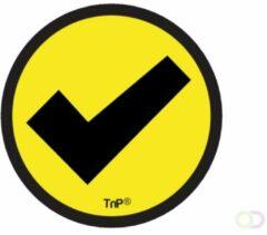 SMIT VISUAL Impressiemagneten – Vinkje geel – Ø 30 mm – set van 5 stuks