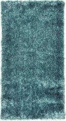 Lichtblauwe Perezvloerkleden.nl BOTERO - hoogpool - vloerkleed - 110 x 60 cm – licht blauw