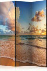 Beige Kamerscherm - Scheidingswand - Vouwscherm - Morning by the Sea [Room Dividers] 135x172 - Artgeist Vouwscherm