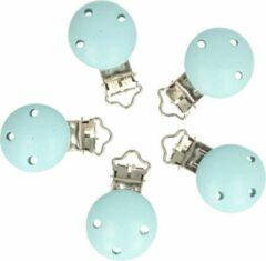 Opry houten speenklem kleur baby blauw ( 3 cm ) (1 stuks)