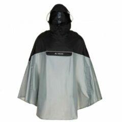 Grijze Vaude - Covero Poncho II - Fietsjack maat XL grijs/zwart
