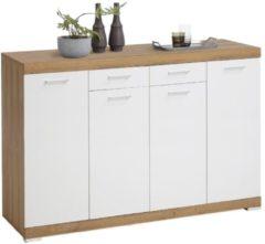 FD Furniture Dressoir Bristol 44 XL van 160 cm breed in oud eiken met wit