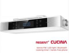 Ferguson Regent Cucina - Bluetooth keukenradio met timer - Wit