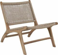 Bruine Norrut Delim fauteuil natuur.