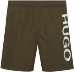 Groene Hugo Boss heren zwemshort logo - kaki