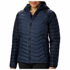 Columbia - Women's Powder Lite Hooded Jacket - Synthetisch jack maat L - Regular, zwart/blauw
