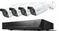 Witte Eve Audio Reolink RLK8-810B4-A - Beveiligingscamera set - 8MP - AI - Met audio
