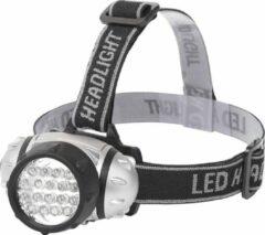 LED Hoofdlamp - Aigi Heady - Waterdicht - 35 Meter - Kantelbaar - 18 LED's - 1.1W - Zilver | Vervangt 9W - BSE