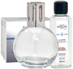 Transparante Lampe Berger Essentielle Ronde geurbrander met navullingen 2 x 250 ml in giftset