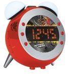 Soundmaster UR140RO UKW Uhrenradio mit Projektion und dimmbaren Nacht- und Aufwachlicht - rot