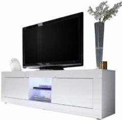 Witte Pesaro Mobilia Tv meubel Tonic 181 cm - Hoogglans wit