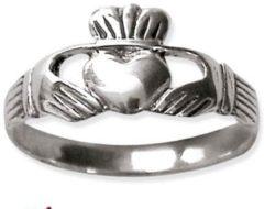 Etnox Claddagh Zilveren Ring maat 60