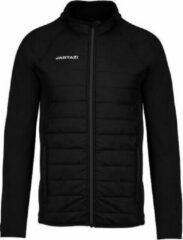 Jartazi Sportjack Torino Heren Polyester Zwart Maat Xl