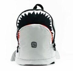 Pick & Pack Schooltas Shark Shape Backpack M 13 Inch Grijs