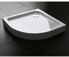 Douche Concurrent Douchebak Best Design Kwartrond 90x90x14cm SMC Glans Wit met Verstelbare Potenset