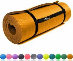 Tresk Sens Design Yogamat - Fitnessmat - 185x60 cm - 1,5 cm dik - Oranje