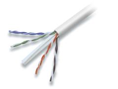 Grijze Bulk Goobay Patch cable 4x2xAWG24/7 Cat6, 100m 100m Grijs netwerkkabel