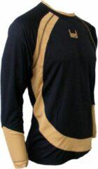 KWD Shirt Nuevo lange mouw - Zwart/goud - Maat 116/128 - Mini