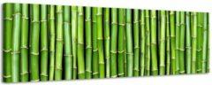 Mooie-Wanddecoratie.nl Bamboe Fantasy - Canvas Schilderij Panorama 118 x 36 cm