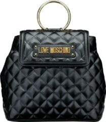 Zwarte Love Moschino New Shiny Quilted Dames Rugzak - Black