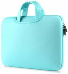 Groene Airbag MacBook 2-in-1 sleeve / tas voor Macbook Pro 15 inch - Mint