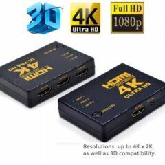 Merkloos / Sans marque HDMI Switch 3 Poorts met Afstandsbediening Ultra HD 4K 3D