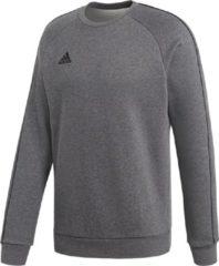 Grijze Adidas Performance sportsweater Core 18 antraciet