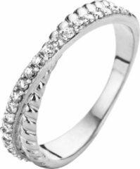Velini jewels -R6221W-64 -Ring -925 Zilver gerodineerd -Cubic Zirkonia
