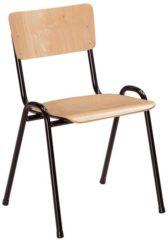 Beige ABC Kantoormeubelen Kantinestoel of schoolstoel hout stapelbaar
