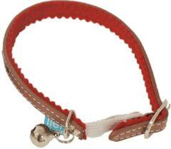 Lief! Lifestyle Lief! halsband voor kat uni met elastiek bruin 35 cm