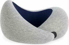 Marineblauwe Ostrich Pillow Go Nekkussen – Memory Foam – Traagschuim – met klittenband - Navy