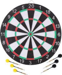 Masterdarts Master Darts Dartbord - met 6 pijltjes, kartonnen scorebord en marker - 41cm