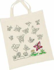 Bruine Goki Draagtas - Vlinders