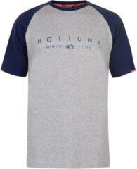 Hot Tuna Printed T-Shirt - Maat L - Heren - Grijs/blauw