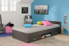 Bett 90 x 200 cm grau Parisot Mega