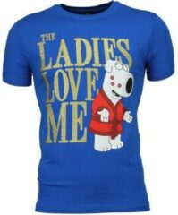 Blauwe T-shirt Korte Mouw Mascherano T-shirt - The Ladies Love Me Print