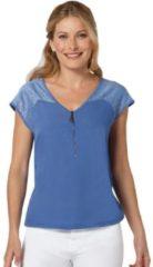 Blauwe Classic Inspirationen shirt met een afgeronde zoom