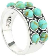 Symbols 9SY 0062 52 Zilveren Ring - Maat 52 - Turkoois - Turquoise - Geoxideerd