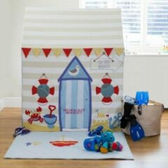 Blauwe Kiddiewinkles Beach Hut & Seaside Speelhuis (Groot) + Quilt