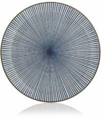 Donkerblauwe Tokyo Design Studio - Sendan blue plate round 25x3cm