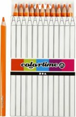 Colortime Kleurpotloden, vulling: 5 mm, oranje, Jumbo, 12 stuks