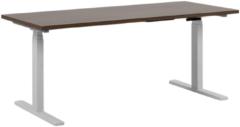Beliani Bureau elektrisch verstelbaar bruin/wit 160 x 72 cm DESTIN II