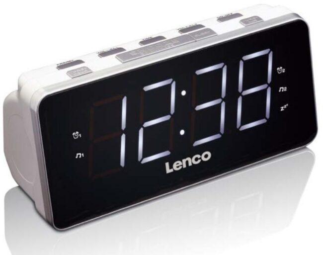 Afbeelding van Lenco CR-18 - Wekkerradio met USB-poort en groot LED display - Wit