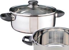 Roestvrijstalen Haushalt RVS kookpan 24cm met glazen deksel