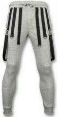 Grijze Trainingsbroek Daniele Volpe Casual Joggingbroek - Basic Braces