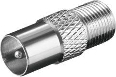 Goobay Adapter F-Kupplung auf Koaxial-Stecker Goobay Silber