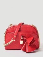 Rosso Guess Borsa Cleo Pelle Trapuntata