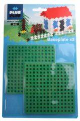 Groene Plus-Plus Plus Plus bouwplaten 11,5 x 11,5 cm 2 stuks