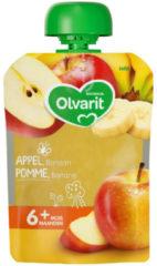Olvarit fruit knijpzakje Appel Banaan 6+ maanden